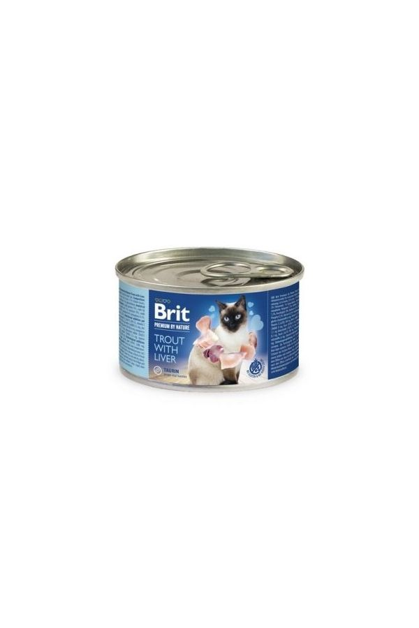 Brit Premium by Nature Cat Trout with Liver Pstrąg Wątróbka 200 g