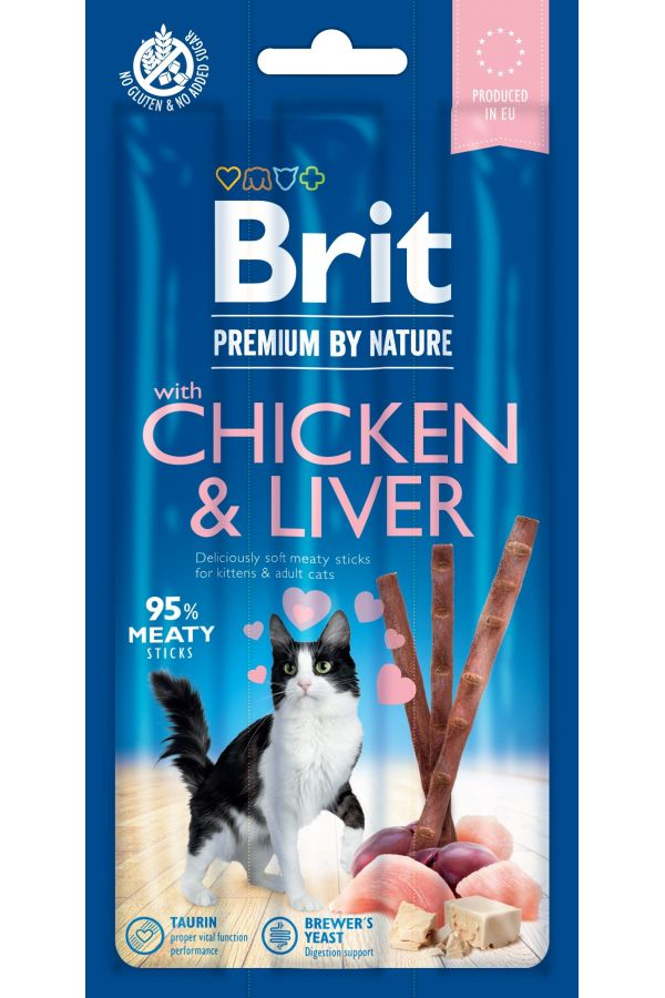 Brit Premium by Nature Cat Sticks with Chicken & Liver Kurczak Wątróbka 15 g