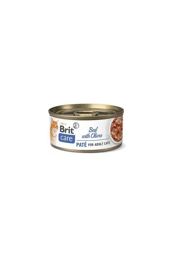 BRIT CARE Cat Beef Pate&Olives Wołowina z Oliwkami 70G