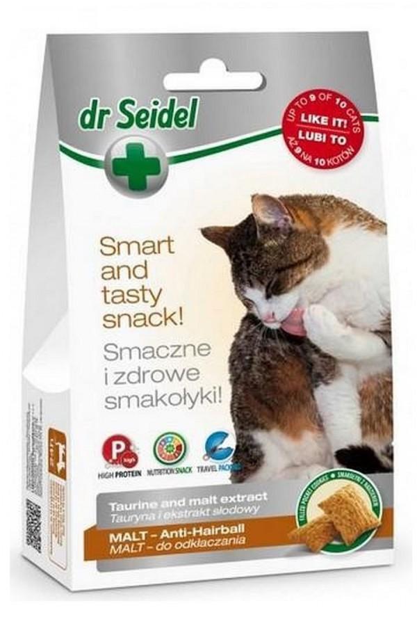 Dr Seidel Smakołyki Malt Odkłaczające dla Kota 50 g