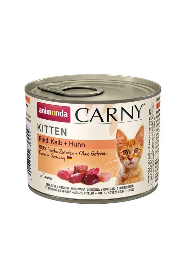 Animonda Carny Wołowina, Cielęcina, Kurczak Kitten 200 g