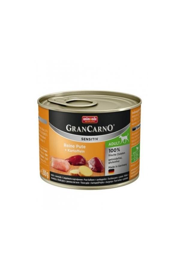 Animonda GranCarno Sensitiv Indyk z Ziemniakami Psy Wrażliwe Adult 200 g