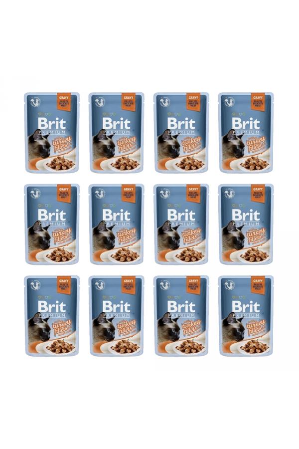 Pakiet Brit Premium Turkey Fillets Indyk 12 x 85 g