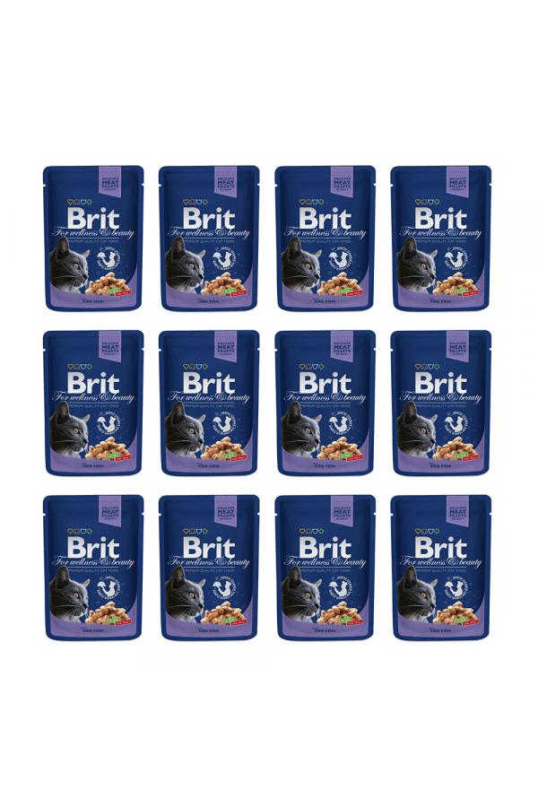 Pakiet Brit Premium Cod Fish Dorsz 12 x 100 g