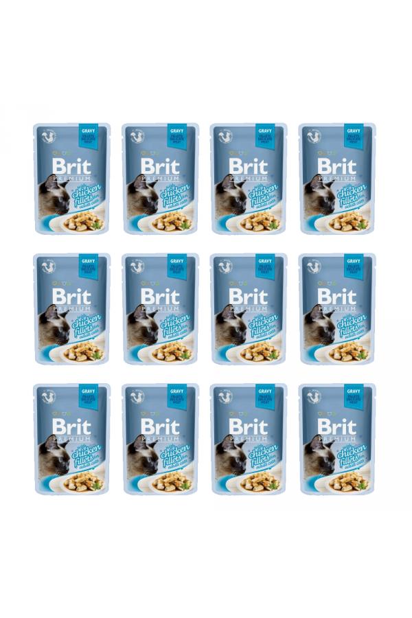 Pakiet Brit Premium Chicken Fillets Kurczak 12 x 85 g