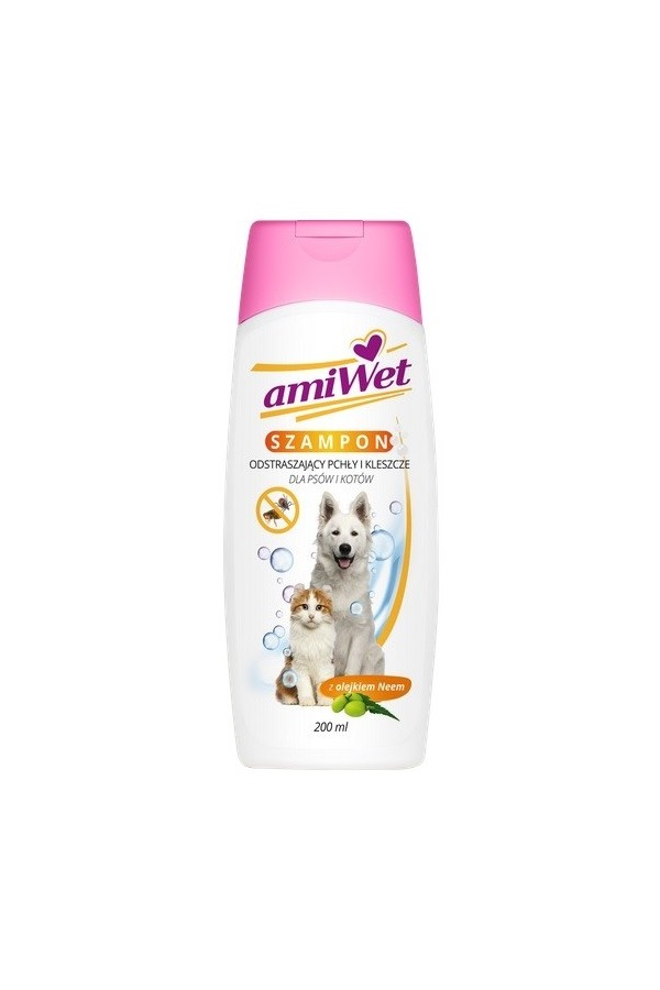 Amiwet szampon odstraszający pchły i kleszcze 200 ml