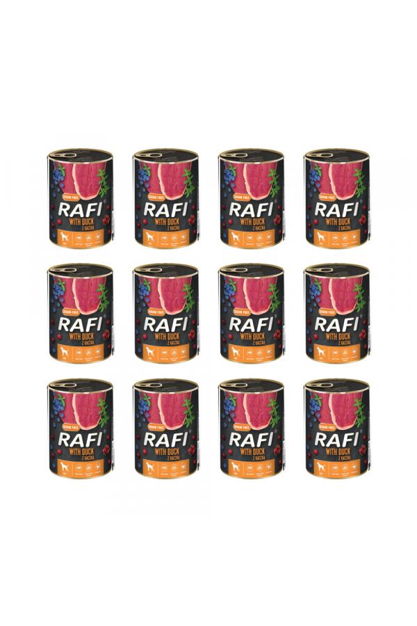 Pakiet Rafi Karma Dla Psa z Kaczką, Borówką i Żurawiną 12 x 400 G