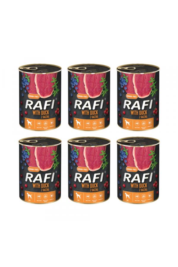 Pakiet Rafi Karma Dla Psa z Kaczką, Borówką i Żurawiną 6 x 800 G