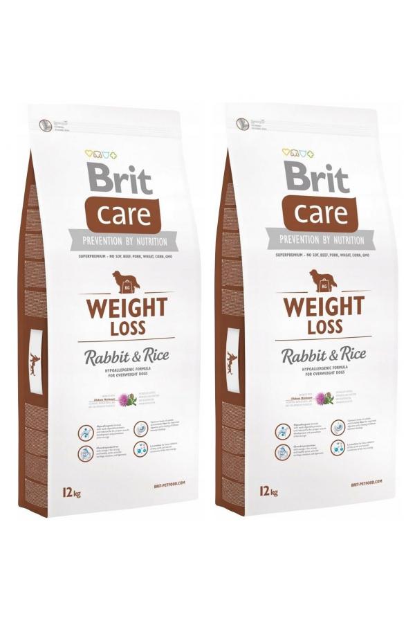 Pakiet Brit Care Weight Loss Rabbit&Rice Dla Psów z Nadwagą 2x12 KG