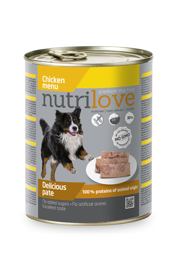 Nutrilove Pasztet z Kurczakiem dla Psa 800 g