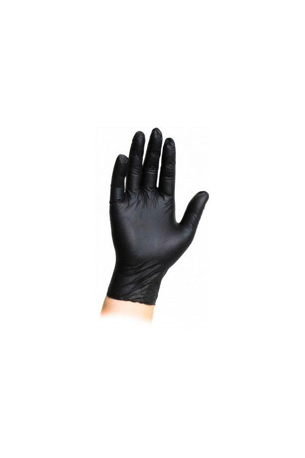 Pol - Gum Rękawice Nitrylowe Czarne L 100 sztuk