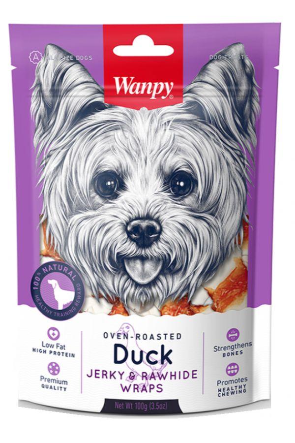 Wanpy Duck Jerky & Rawhide Wraps Kostki z Kaczką 100 g