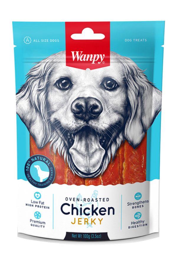 Wanpy Chicken Jerky Kawałki Kurczaka 100 g