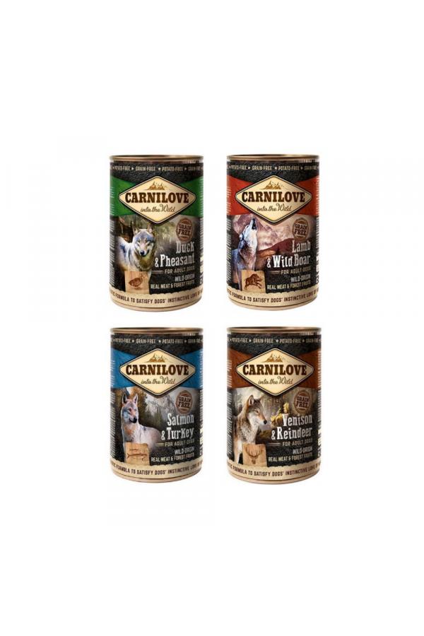 Pakiet Brit Carnilove Dla Psa Mix Smaków 4 x 400 g