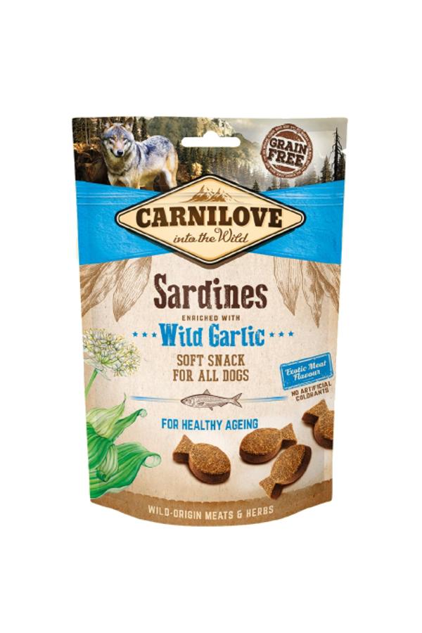 Brit Carnilove Healthy Ageing Snack Sardines with Wild Garlic Sardynki Dziki Czosnek 200 g