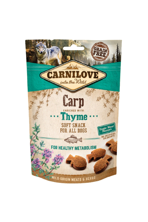 Brit carnilove healthy metabolism snack carp with thyme 200 g