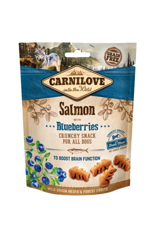 Brit Carnilove Brain Snack Salmon with Blueberries Łosoś Jagody 200 g