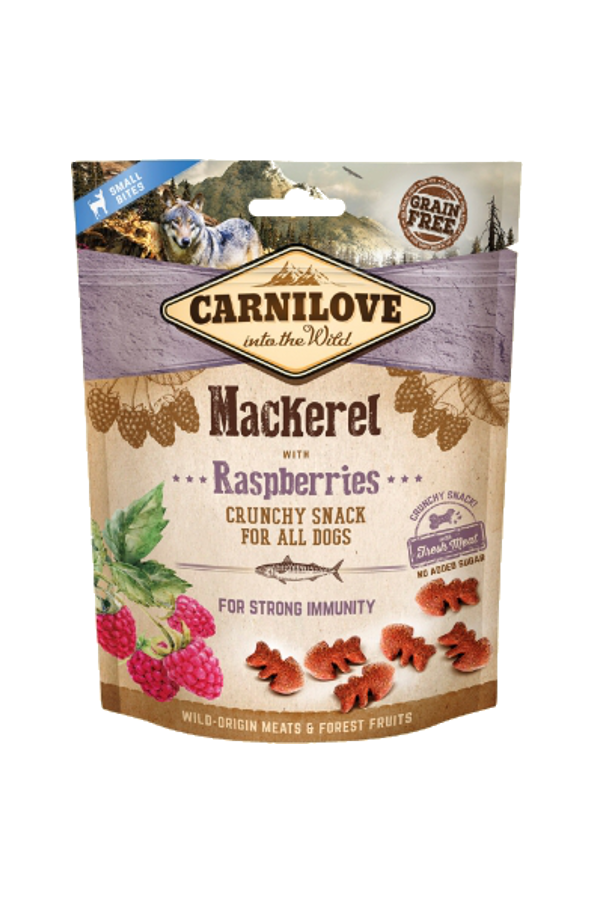Brit carnilove strong immunity snack mackerel with raspberries 200 g