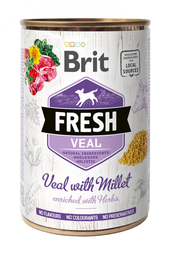 Brit Fresh Veal With Millet Cielęcina Proso 400 g