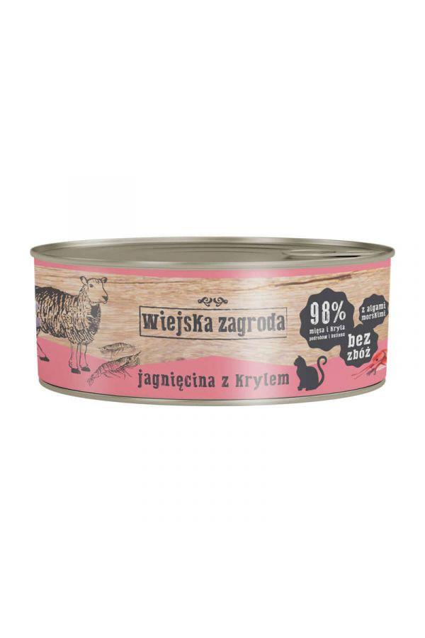 Wiejska Zagroda Jagnięcina z Krylem 85 g