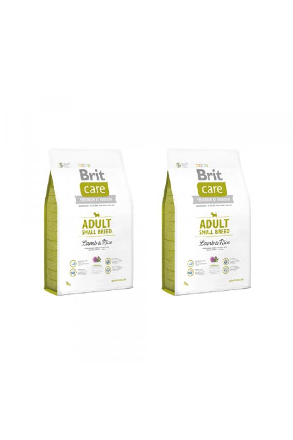 Pakiet Brit Care Lamb & Rice Jagnięcina Adult Small Breed 2 x 3 kg