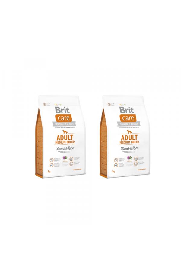 Pakiet Brit Care Lamb & Rice Jagnięcina Adult Medium Breed 2 x 3 kg