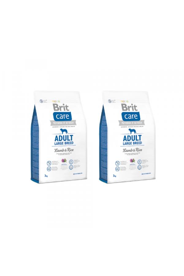 Pakiet Brit Care Lamb & Rice Jagnięcina Adult Large Breed 2 x 3 kg