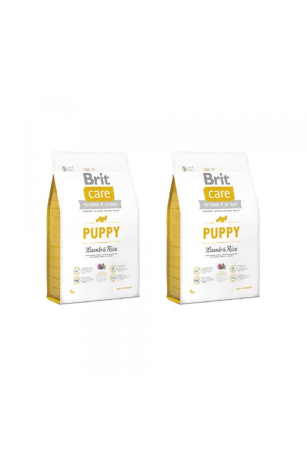Pakiet Brit Care Lamb & Rice Jagnięcina Puppy 2 x 3 kg