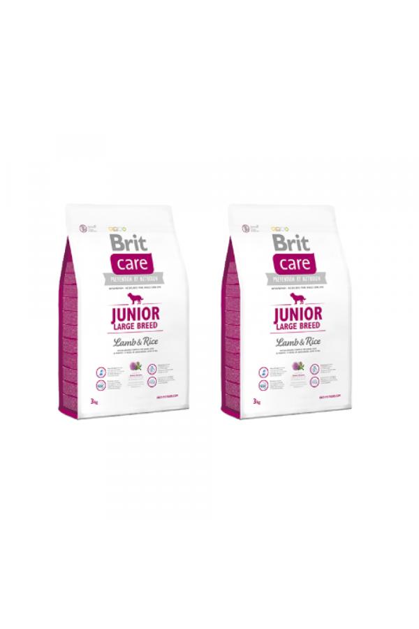 Pakiet Brit Care Lamb & Rice Jagnięcina Junior Large Breed 2 x 3 kg