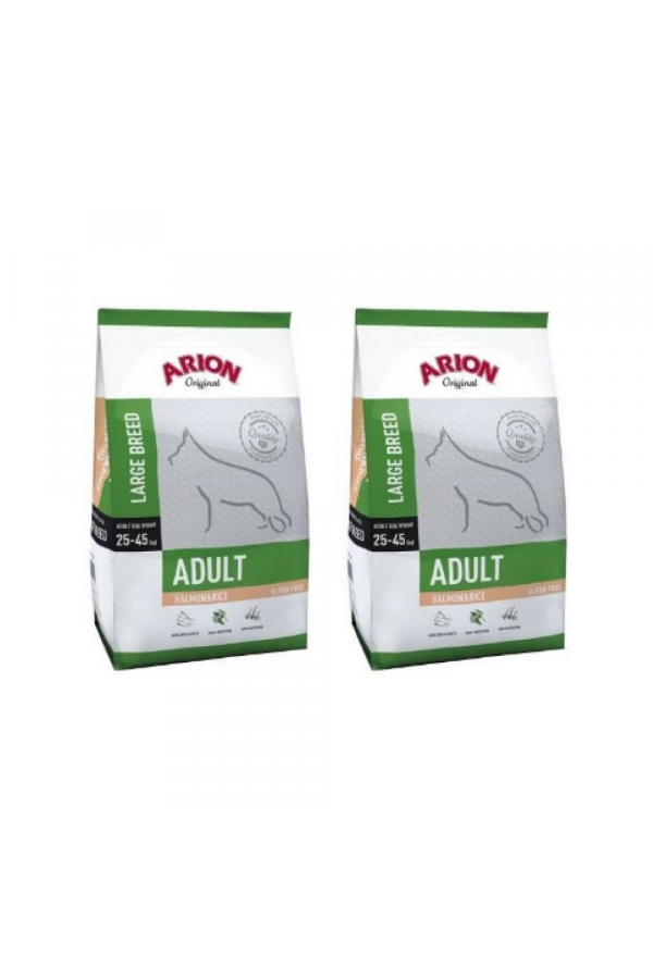 Pakiet Arion Original Salmon & Rice Łosoś Large Adult 2 x 12 kg