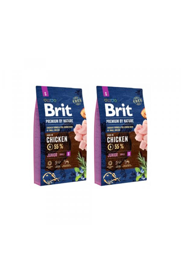 Pakiet Brit Premium By Nature Chicken Kurczak Junior S 2 x 8 kg