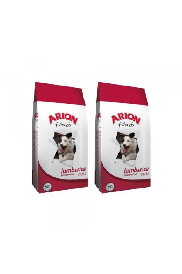Pakiet Arion Friends Lamb & Rice Jagnięcina Ryż Multi-Vital 28/13 2 x 15 kg