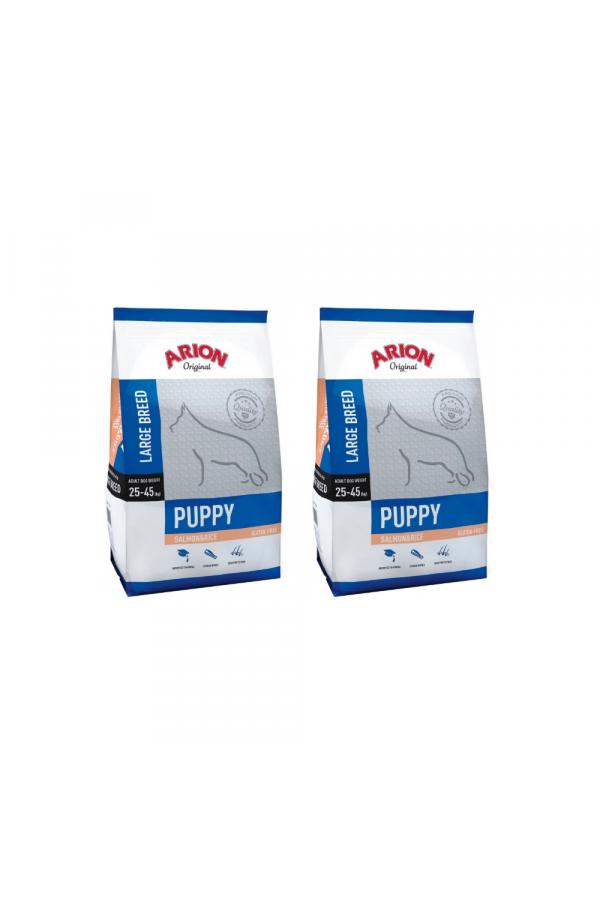 Pakiet Arion Original Salmon & Rice Large Puppy 2 x 12 kg