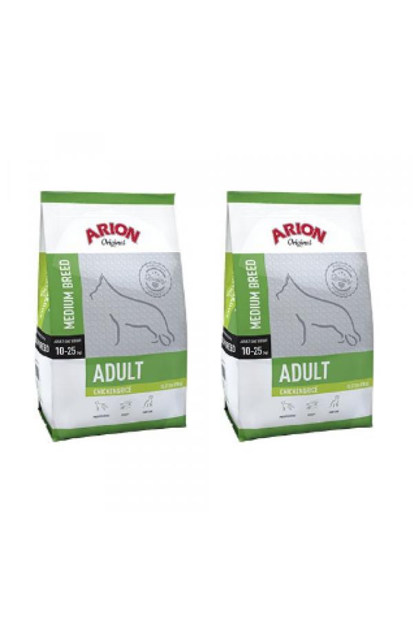 Pakiet Arion Original Chicken & Rice Medium Adult 2 x 12 kg