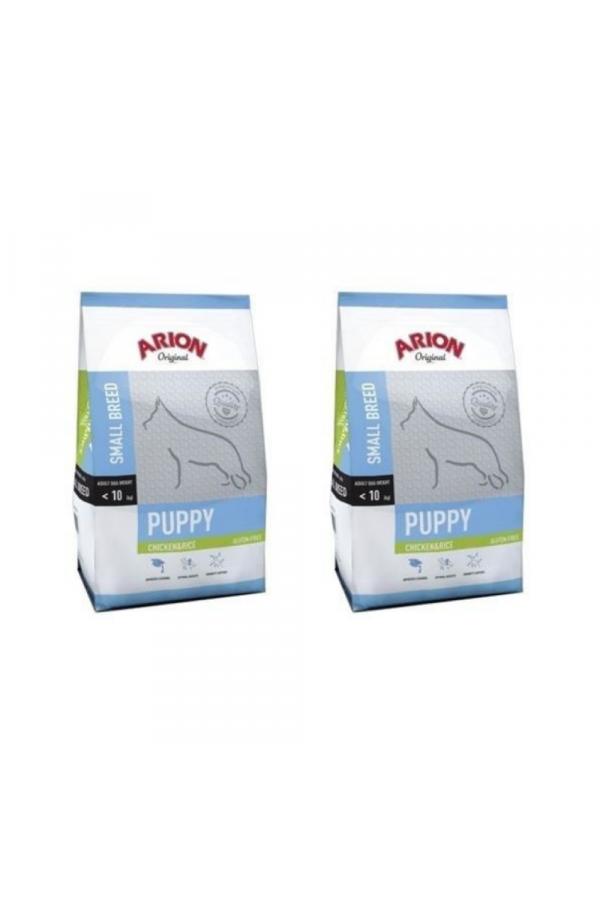 Pakiet Arion Original Chicken & Rice Small Puppy 2 x 7,5 kg