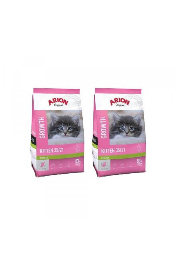 Pakiet Arion Original Cat Kitten 2 x 2 kg