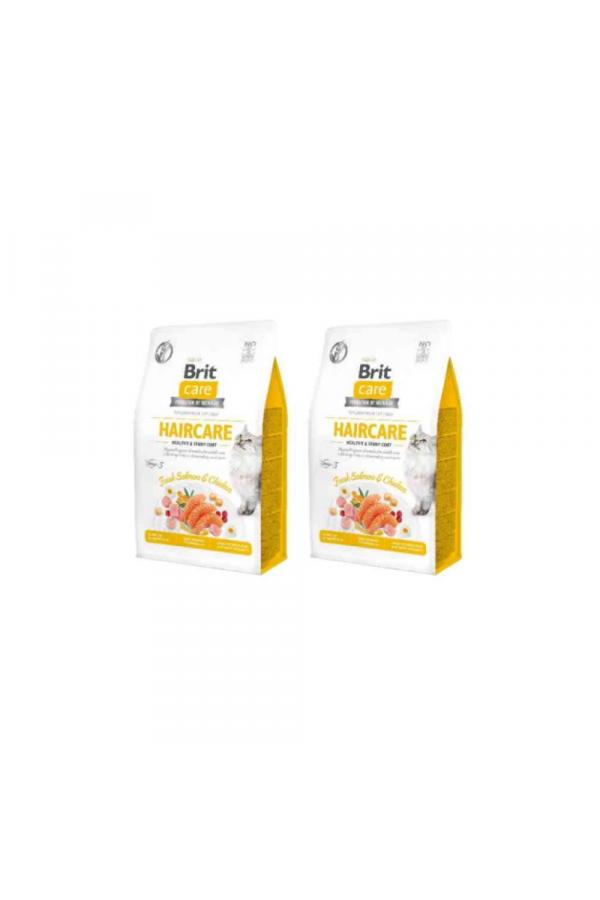 Pakiet BRIT Care Grain Free Adult Haircare z Łososiem 2 x 2 kg