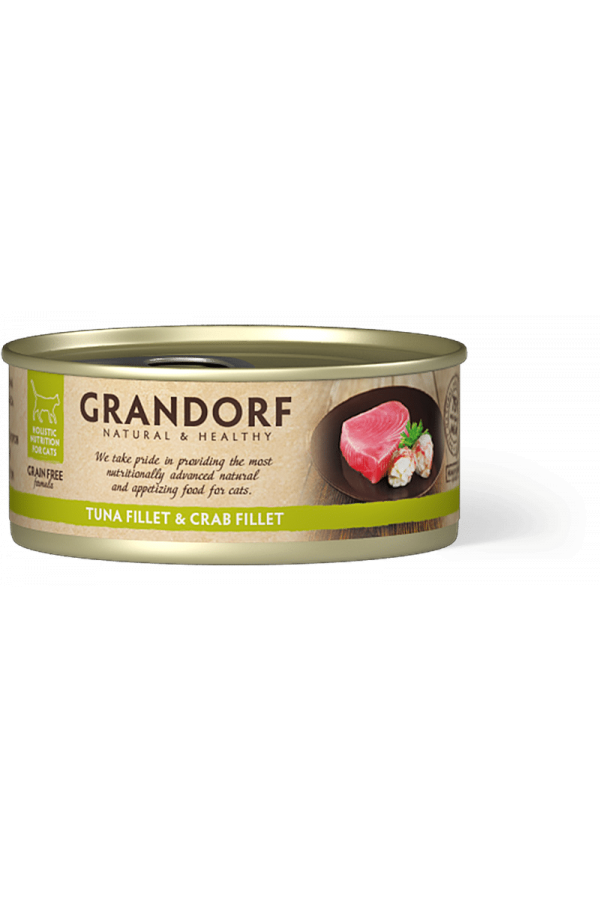 Grandorf Tuna Fillet & Crab Fillet Mokra Karma Dla Kota Filet z Tuńczyka i Kraba 70 g