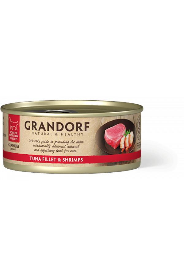 Grandorf Tuna Fillet & Shrimps Mokra Karma Dla Kota Filet z Tuńczyka i Krewetki 70 g