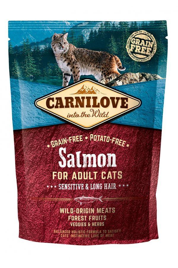 Brit Carnilove Sensitive & Long Hair Bezzbożowa Łosoś Adult Cats 400 g