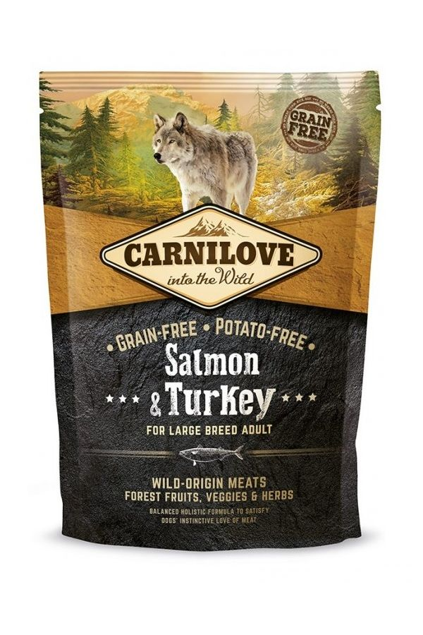 Brit Carnilove Salmon & Turkey Łosoś Indyk Bezzbożowa Large Breed Adult 1,5 kg