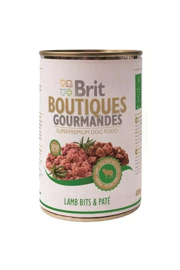 Brit boutiques gourmandes lamb bits & pate 400 g